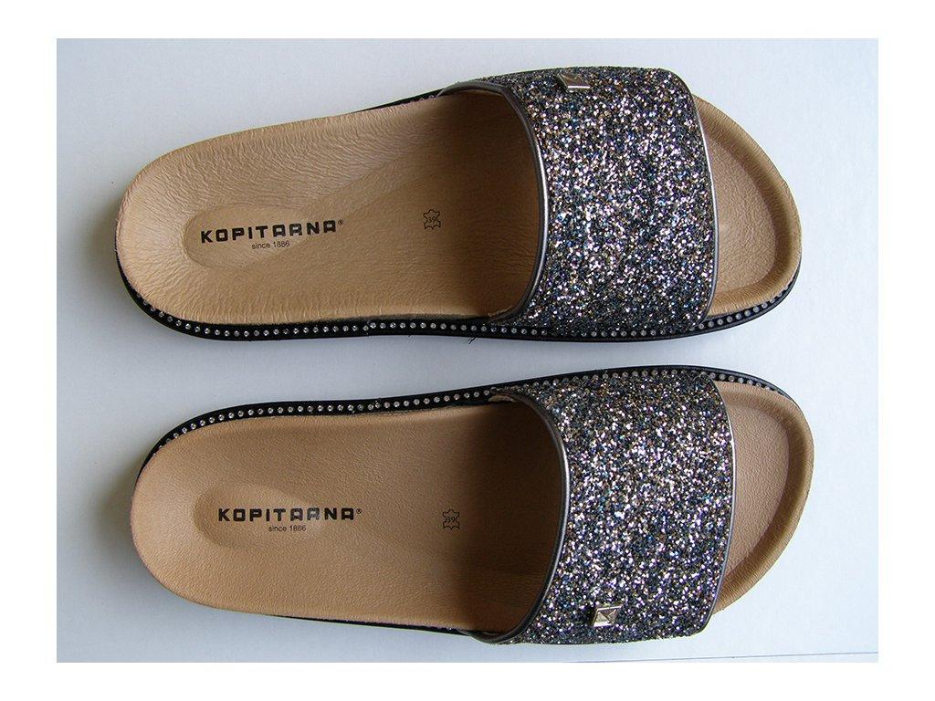LETIZIA 2688 zdravotní pantofle dámské stříbrné Kopitarna