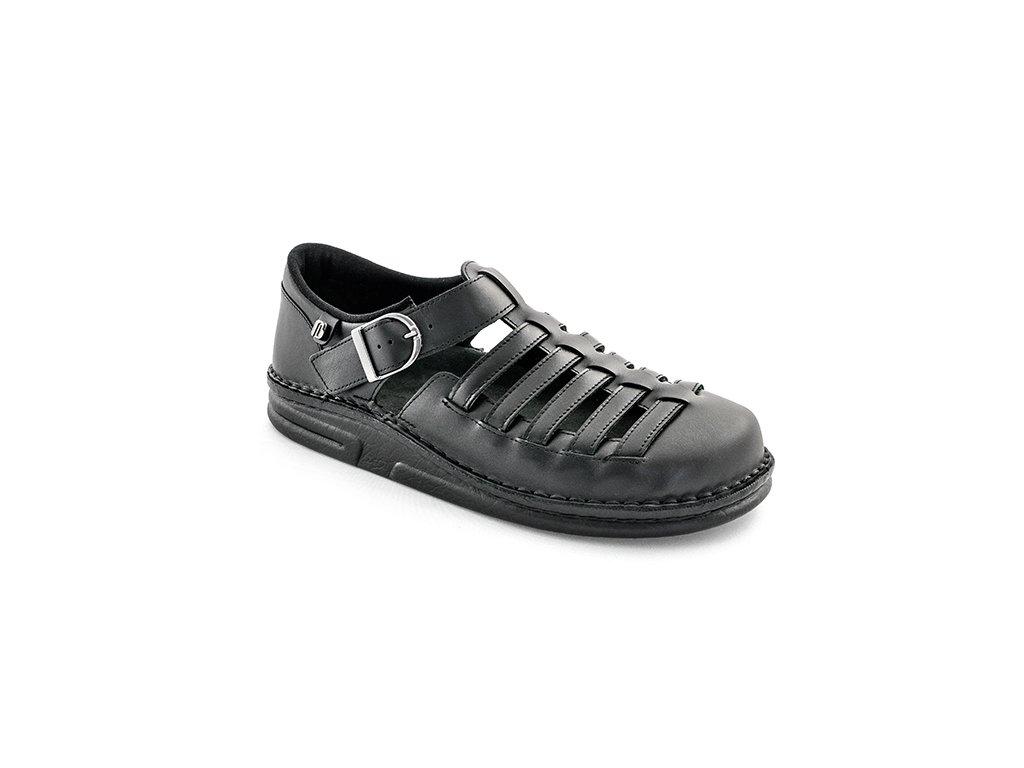 CORSO diabetický sandálek pánský černý Berkemann