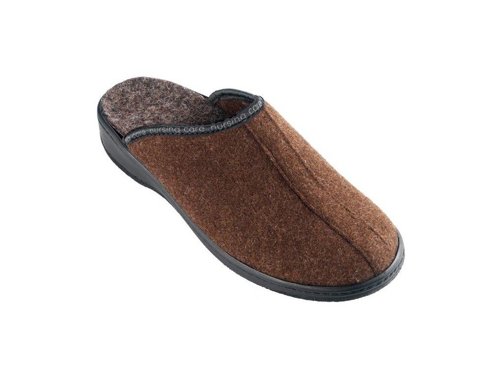 SOBREIRO filcová domácí obuv unisex hnědá WW202 Nursing Care 2