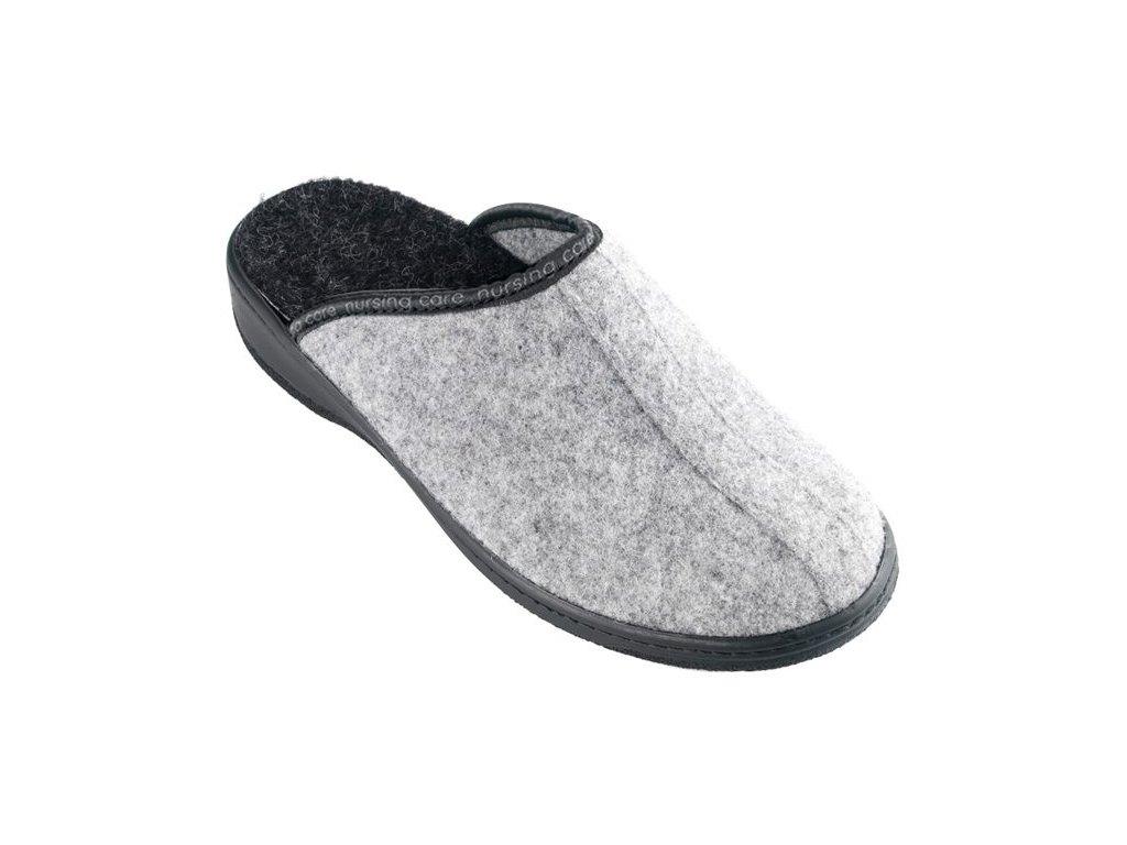 SOBREIRO filcová domácí pantofle unisex šedá WW201 Nursing Care 1