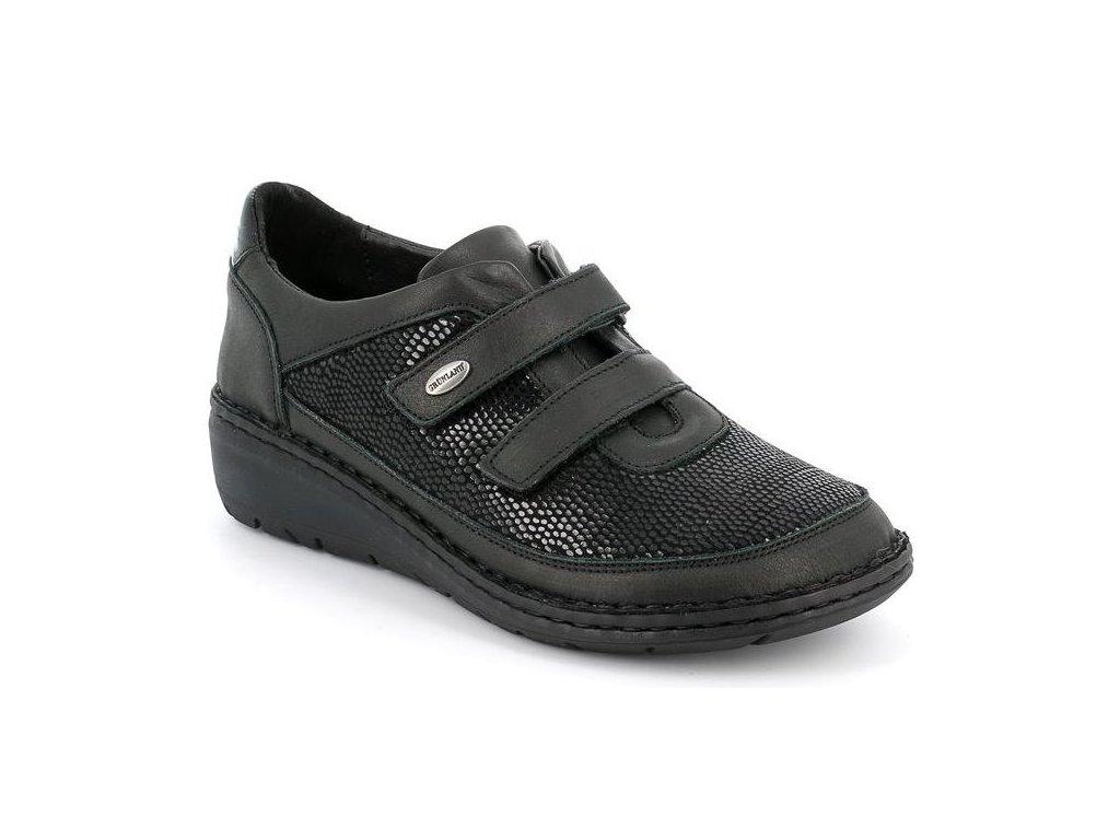 NESI SC4029 dámská polobotka / sneaker pro širokou nohu dámská černá Grunland