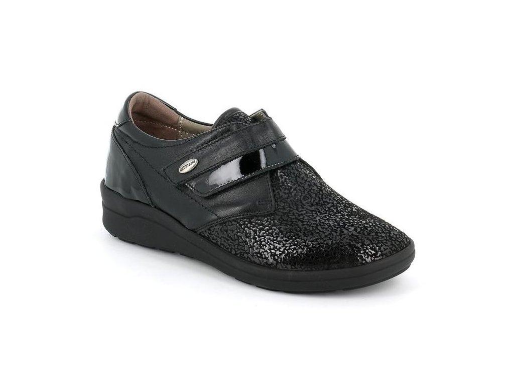 NIFF SC4965 dámská polobotka / sneaker pro širokou nohu dámská černá Grunland