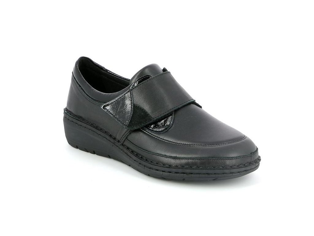 NESI SC4028 dámská polobotka / sneaker pro širokou nohu dámská černá Grunland