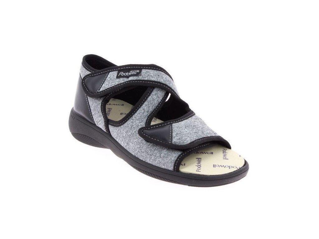 ATLAS zdravotní sandál unisex šedý PodoWell
