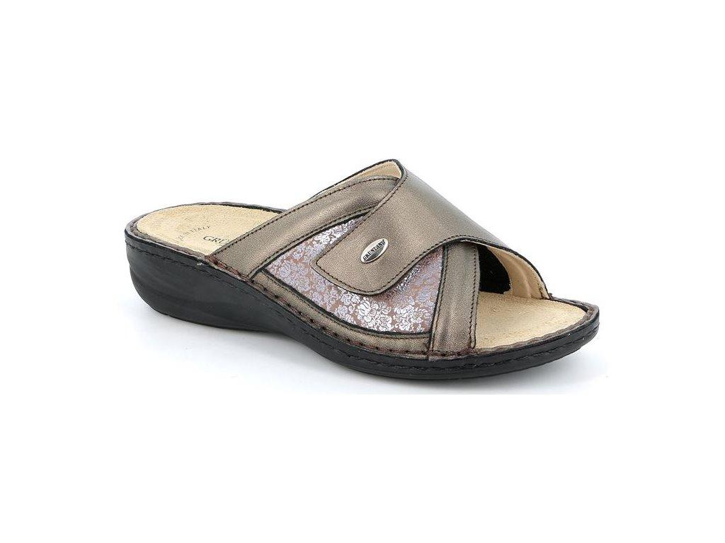 DARA CE0445 elastická pantofle piombo Grunland 11