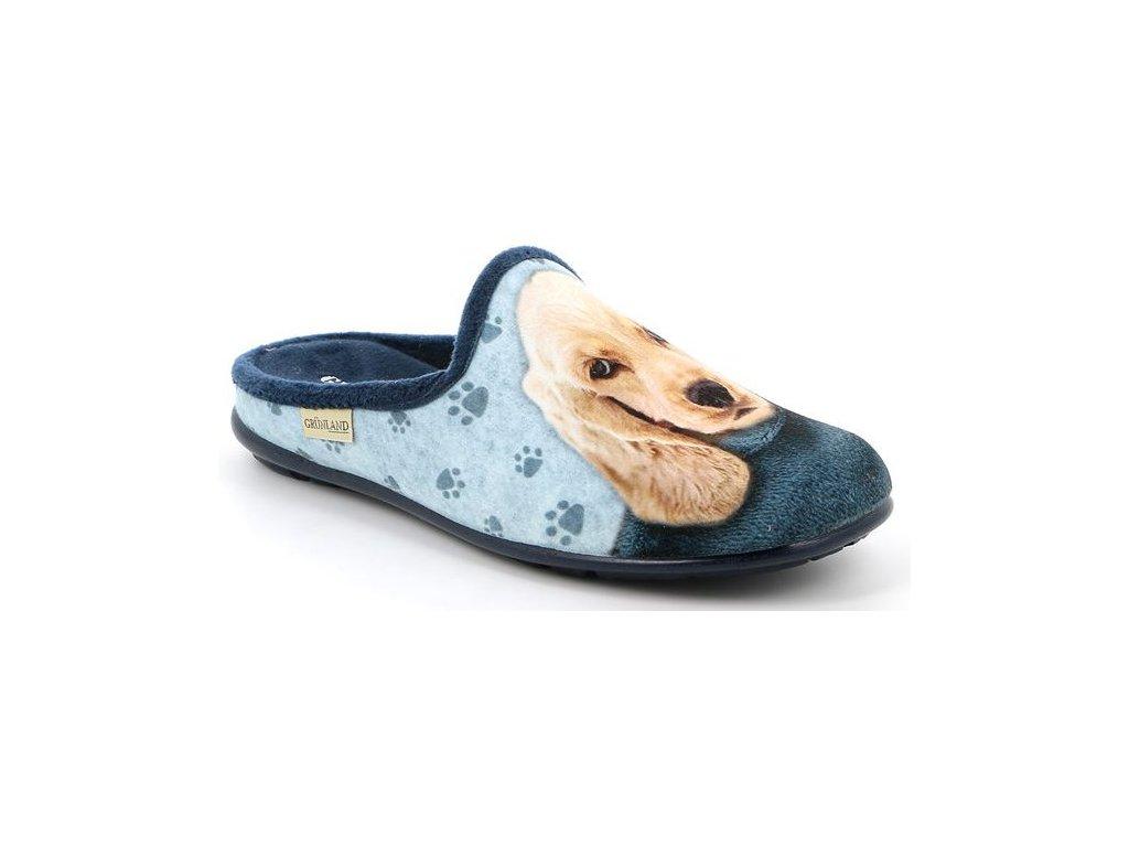 FAYE CI2781 domácí pantofle modrá pejsek Grunland 5