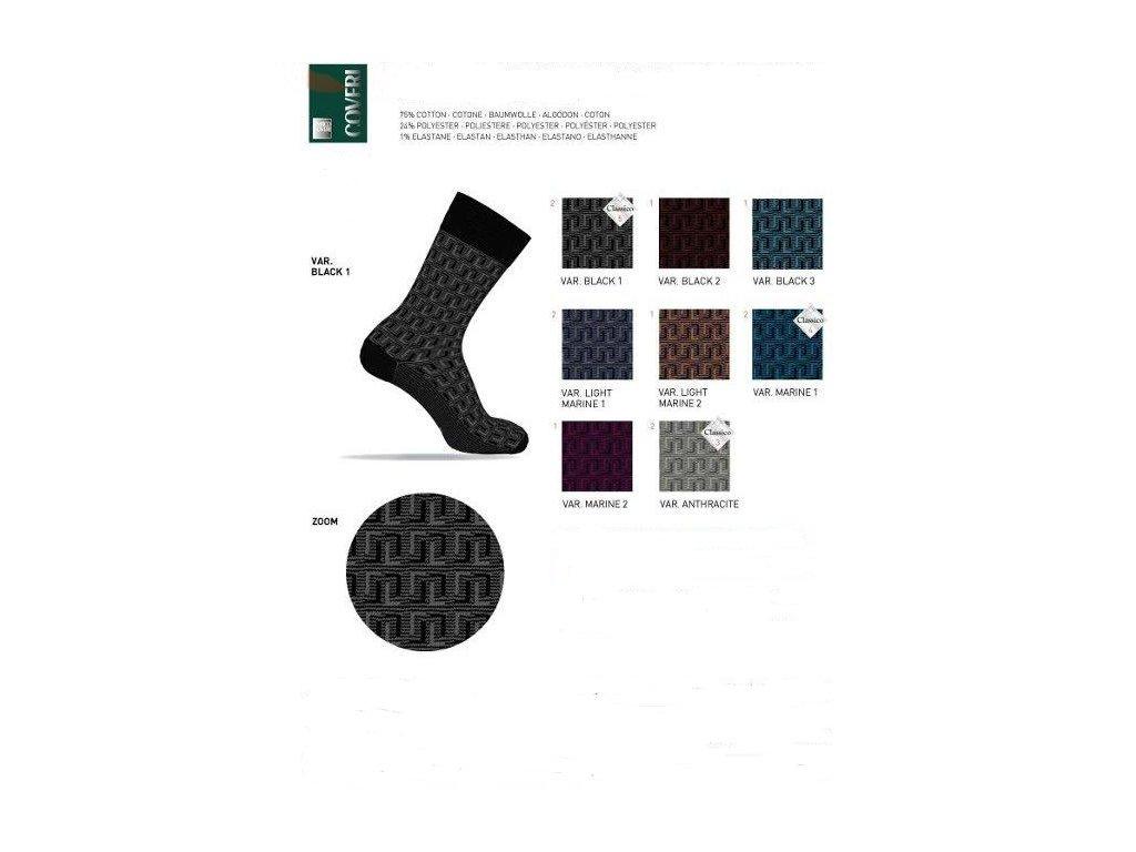 Ponožky italské pánské ROYAL 58 vícebarev ENRICO COVERI
