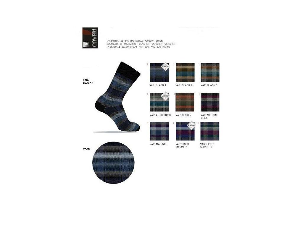 Pánské italské ponožky TREND LINE 317 vícebarevné ENRICO COVERIine317