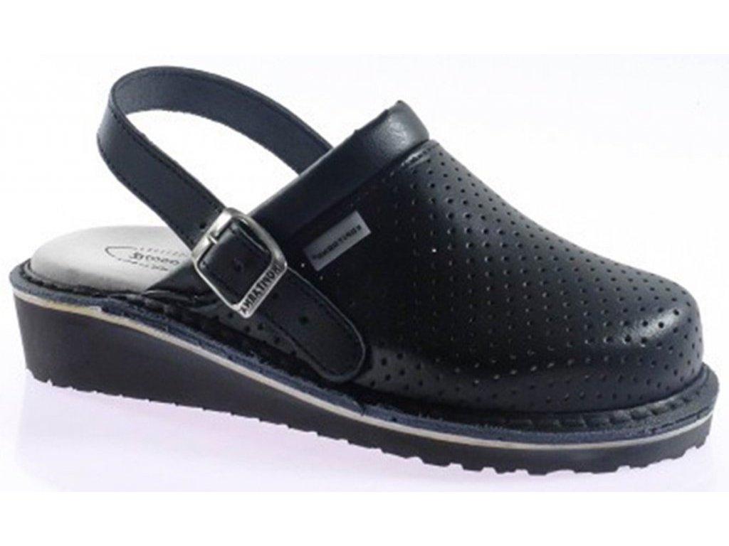 Nazuovák 1266 pracovní obuv s páskem černá Kopitarna