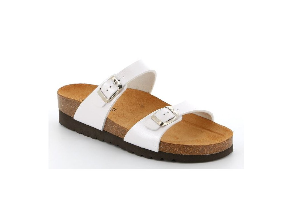 HOLA CB2434 dámská pantofle bílá Grunland 1