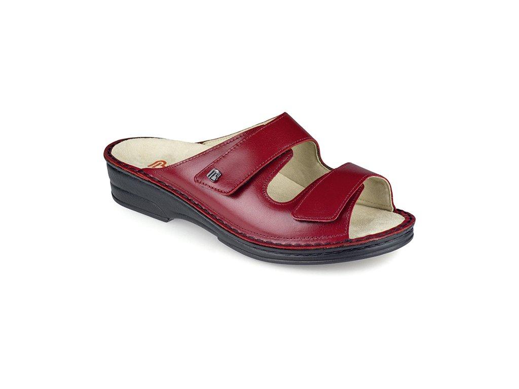 GINA diabetická pantofle dámská rubínová Berkemann