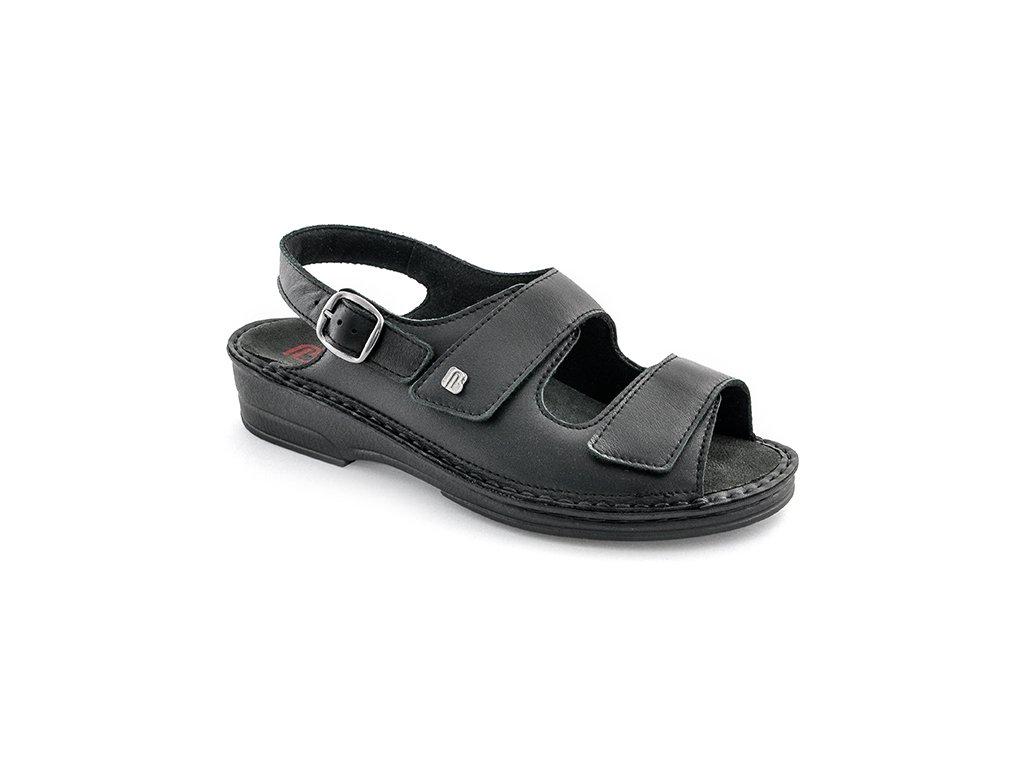 LUISA diabetický sandálek dámský černý Berkemann