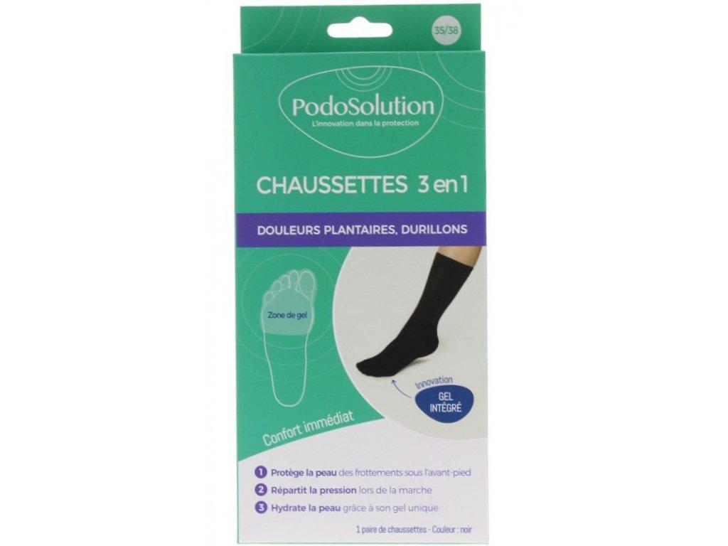 Ponožky-unisex-pro-kuří-oka-plantární-bolesti-černé-PodoSolution