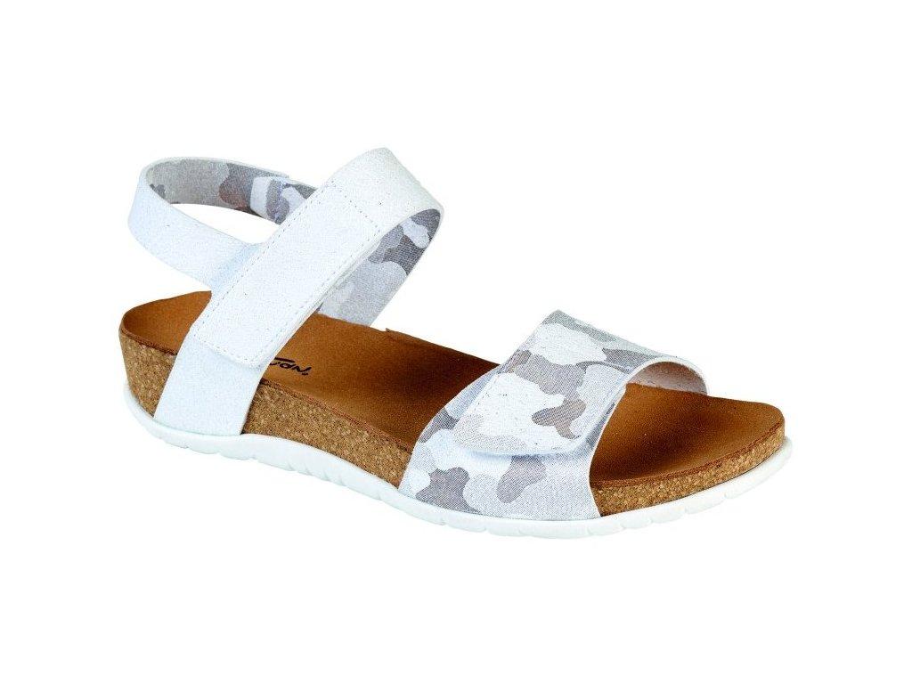 BRUMAN BR3232 dámský sandálek stříbrný FLD