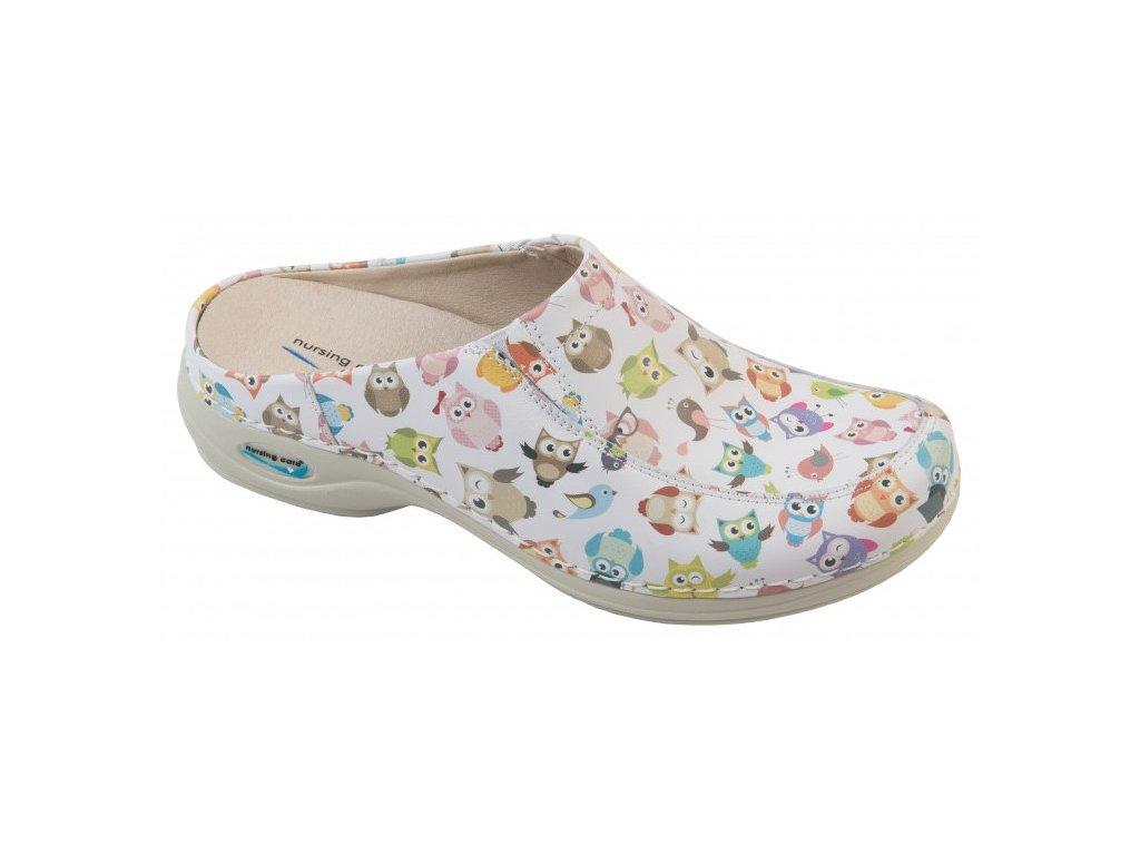 PARIS pracovní kožená pratelná obuv s certifikací sovičky WG4F57 Nursing Care 1