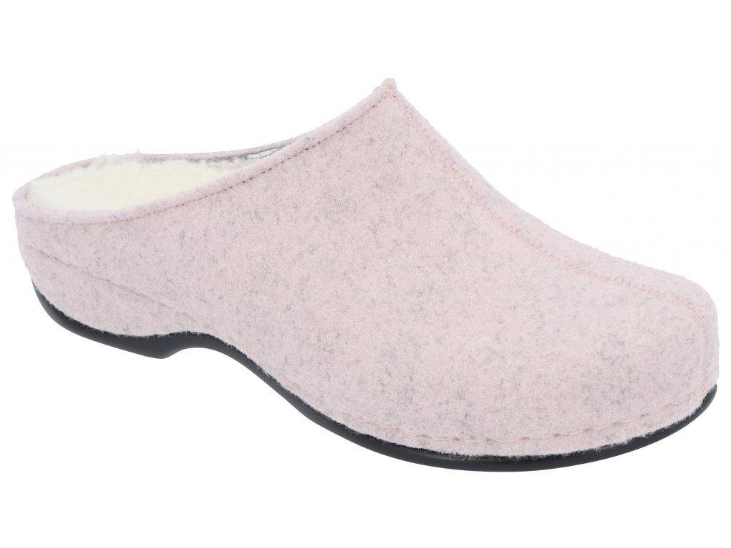 FLORINA domácí filcová obuv dámská pudrová 01025 190 Berkemann
