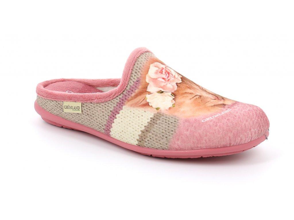 FAYE CI2407 domácí pantofle růžová koťátko Grunland 1