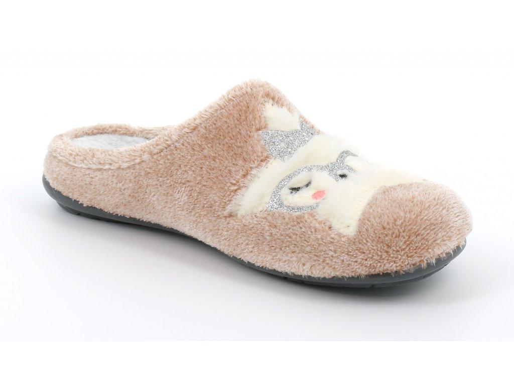 FAYE CI2430 domácí pantofle pudrové barvy hvězdička Grunland 1