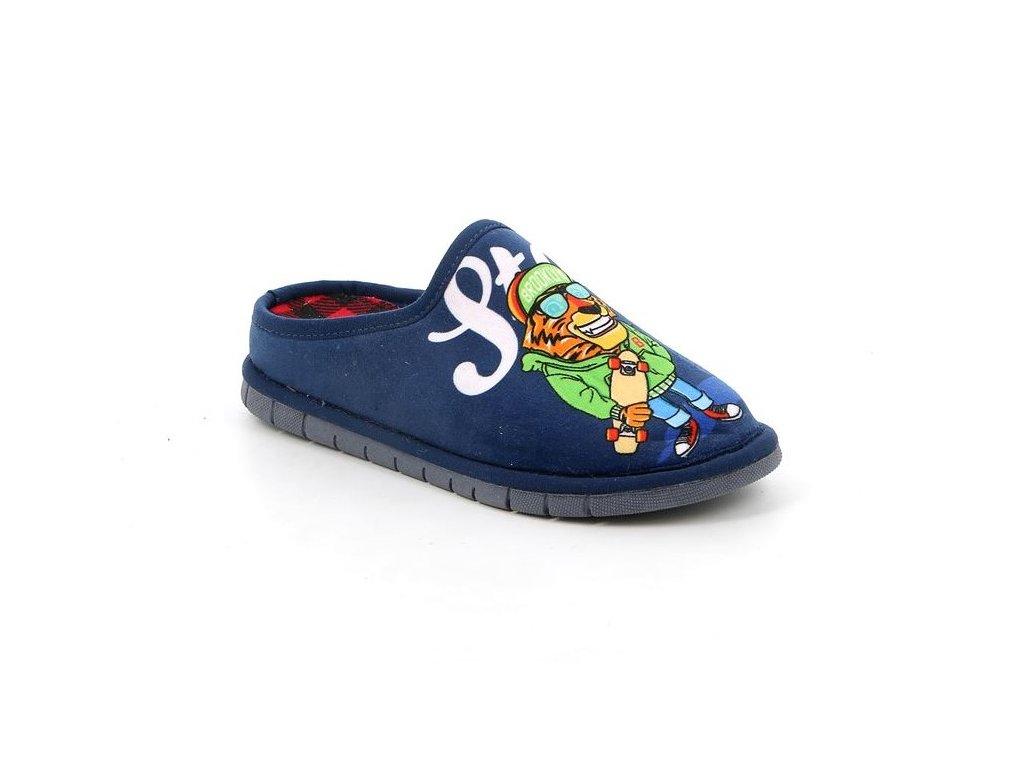 FIMO CI2416 chlapecké domácí pantofle se lvem modré Grunland 1