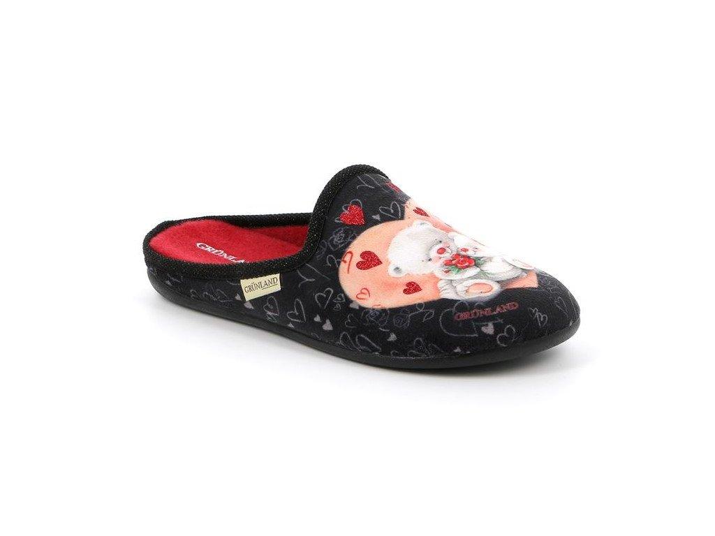 GAYE CI2410 dámská domácí pantofle černá s medvídkem Grunland 1