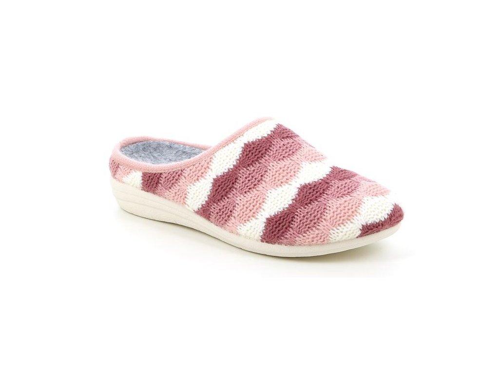 RECA CI1791 domácí pantofle v pudrové barvě Grunland 1
