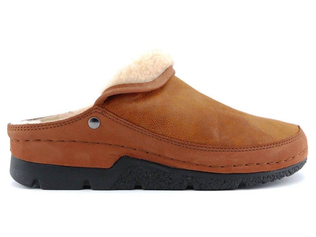 REMONDA 01152 423 dámská hřejivá domácí pantofle v baRvě whisky Berkemann 1