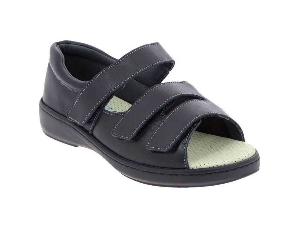 ALBAN zdravotní sandál unisex černý PodoWell