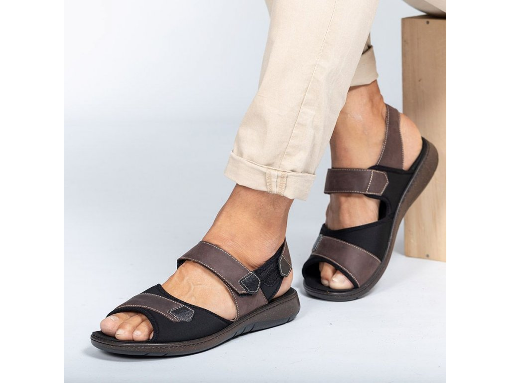 HOUSTON zdravotní sandál pánský hnědý PodoWell
