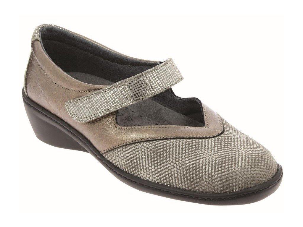 SOPHIE ELEGANCE strečová dámská obuv pro halluxe a kladívkové prsty bronzová PodoWell