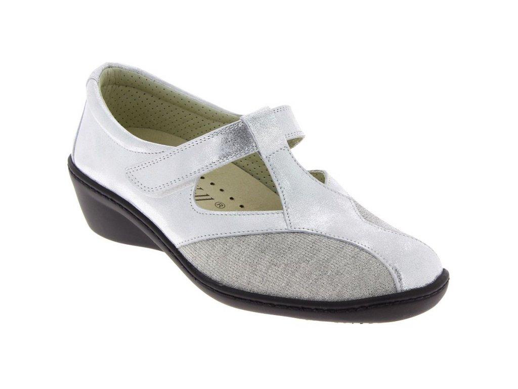 SWAN obuv pro halluxe a kladívkové prsty stříbrná PodoWell