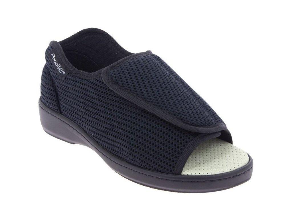 ABVILLE zdravotní obuv pro oteklé nohy unisex černá PodoWell