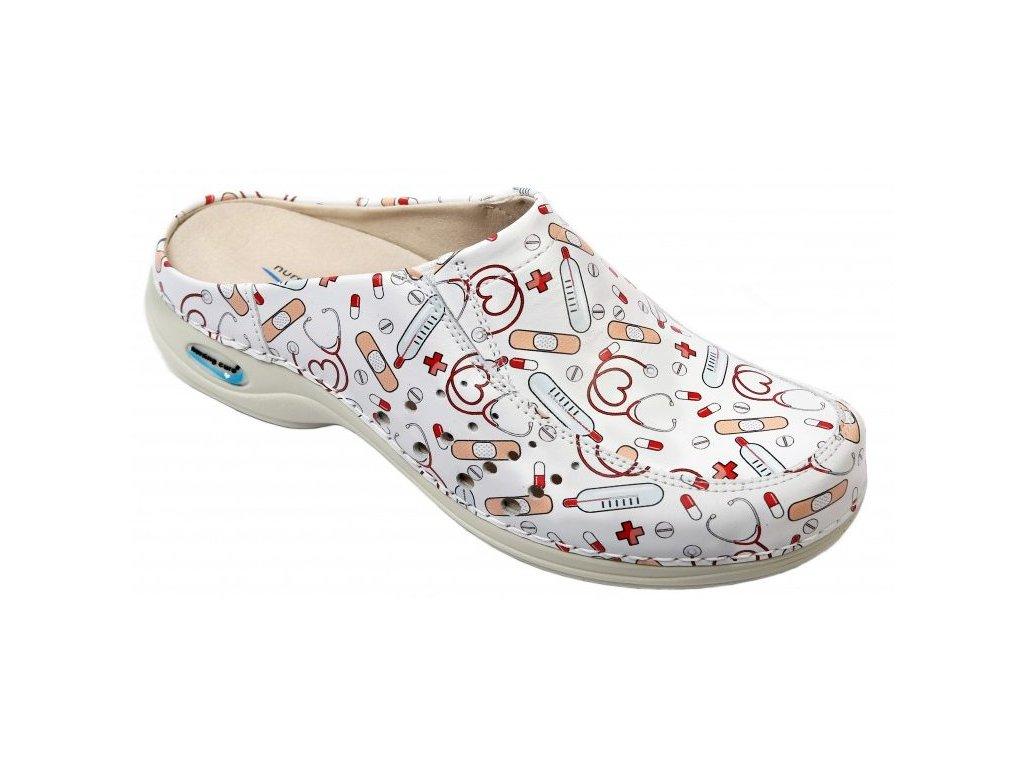 BERLIM pracovní kožená pratelná obuv s certifikací unisex bez pásku health 10 WG4AF25 Nursing Care 2(1)