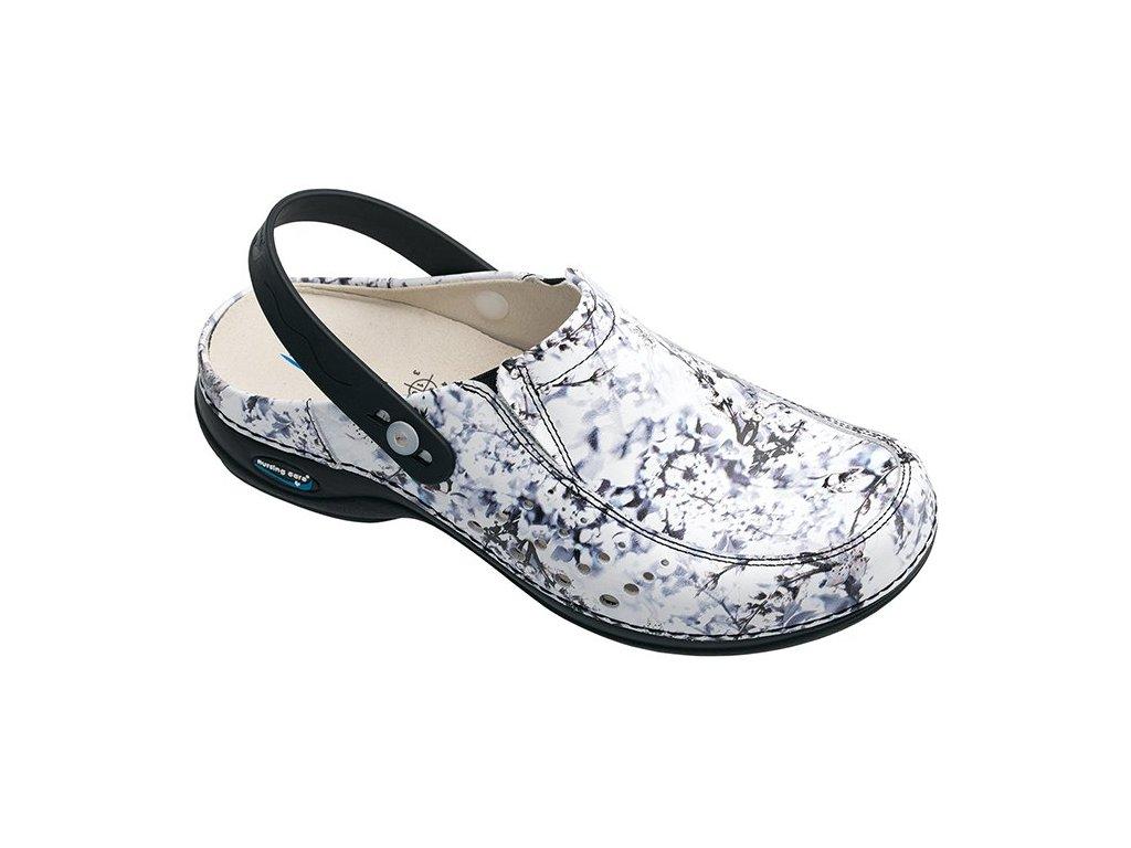 BERLIM pracovní kožená pratelná obuv s certifikací dámská s páskem inverno WG4APF13 Nursing Care 3