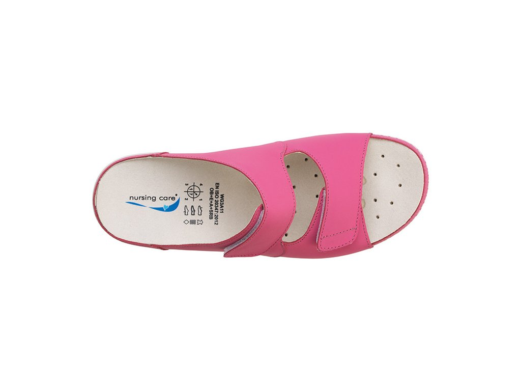 VIENA dámská pantofle pratelná fuksiová WG809 Nursing Care