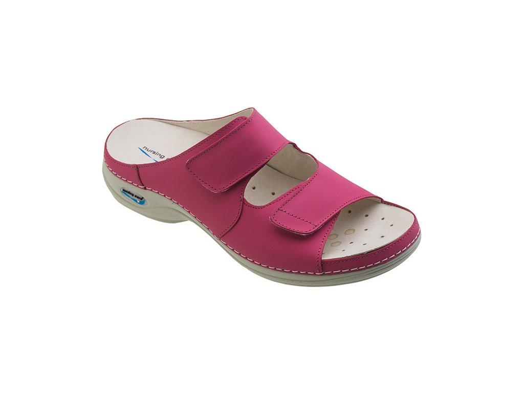 VIENA dámská pantofle pratelná fuksiová WG809 Nursing Care 3