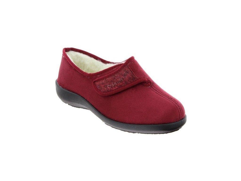 TOTIE zdravotní obuv pro doma bordová PodoWell