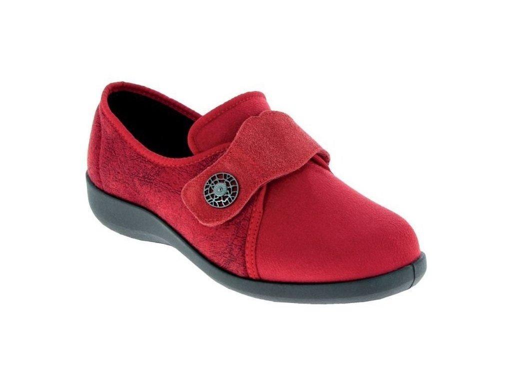 UCIEL dámská domácí zdravotní obuv bordová PodoWell