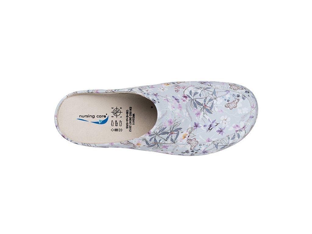 BERLIM pracovní kožená pratelná obuv s certifikací dámská bez pásku primavera WG4AF18 Nursing Care