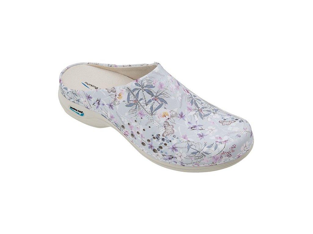 BERLIM pracovní kožená pratelná obuv s certifikací dámská bez pásku primavera WG4AF18 Nursing Care 2