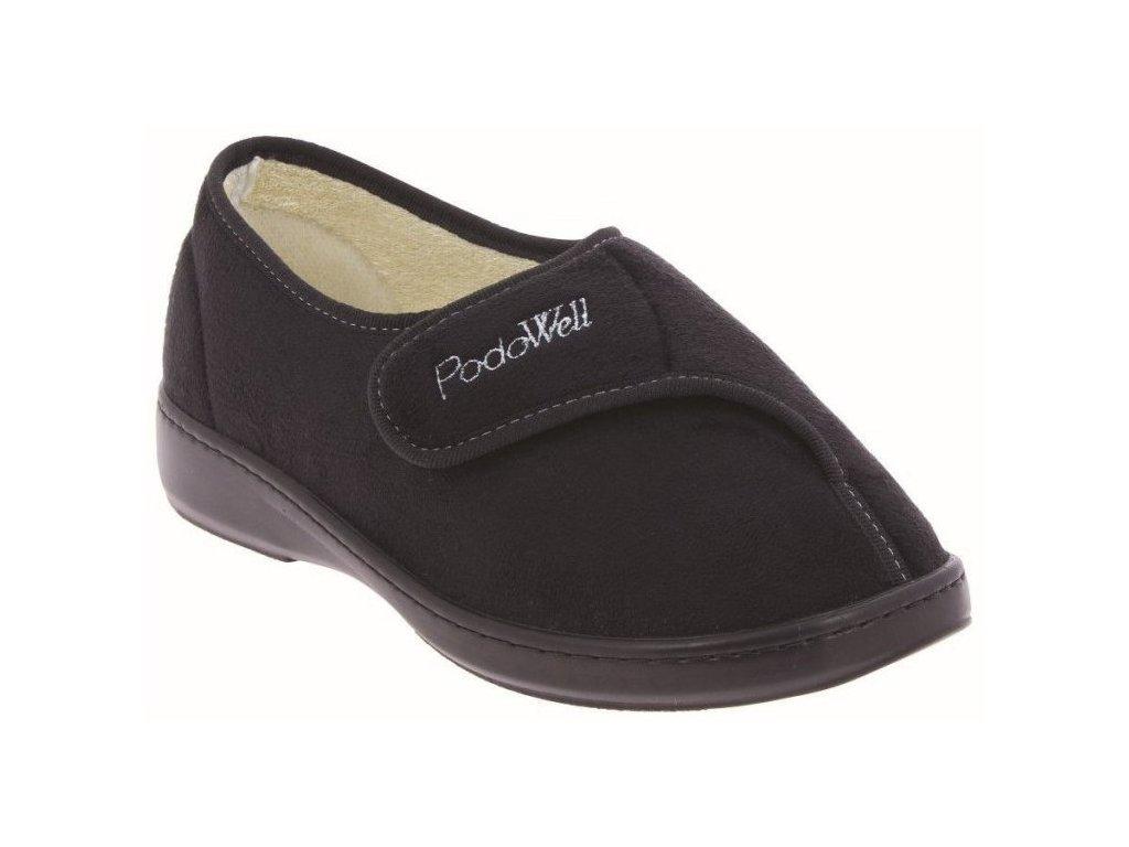 AMIRAL-zdravotní-domácí-obuv-unisex-černá-PodoWell