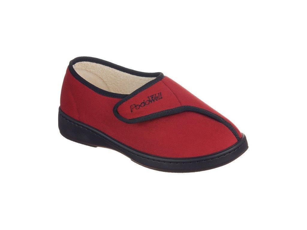 AMIRAL-zdravotní-domácí-obuv-unisex-červená-PodoWell