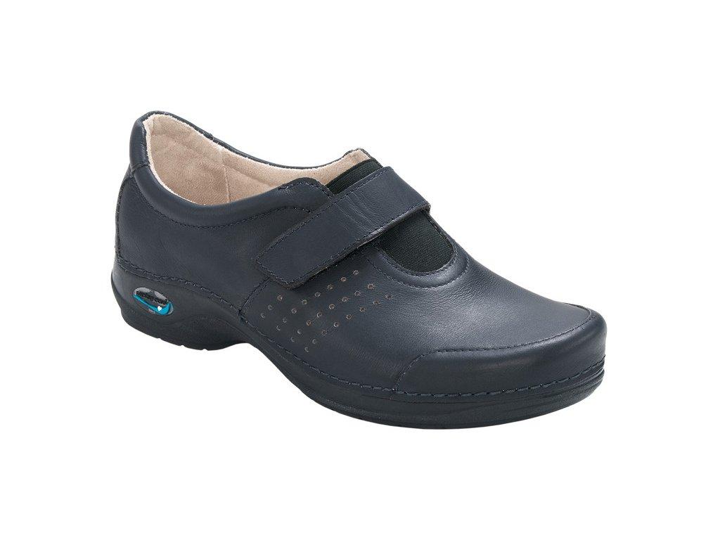 MILAO pracovní kožená pratelná obuv unisex tmavě modrá WG103 Nursing Care