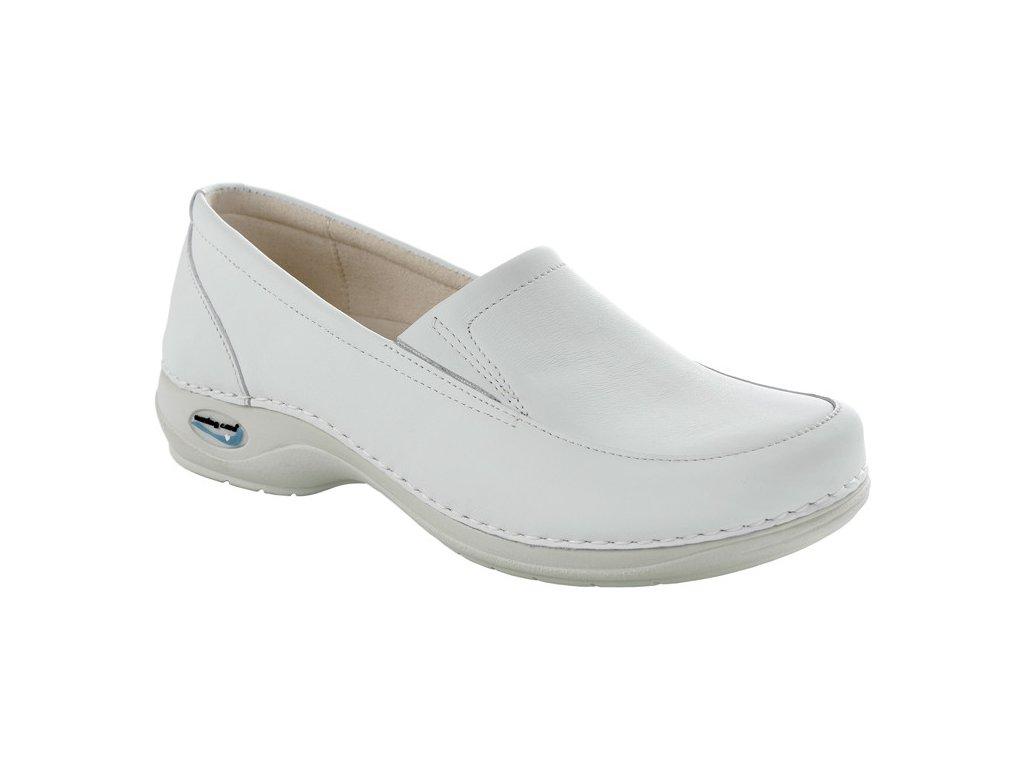 ROMA pracovní kožená pratelná dámská obuv bílá WG1010 Nursing Care