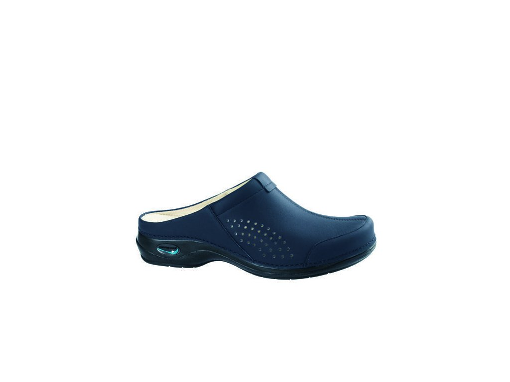VENEZA  pracovní kožená pratelná obuv bez pásku unisex tmavě modrá WG3A03 Nursing Care