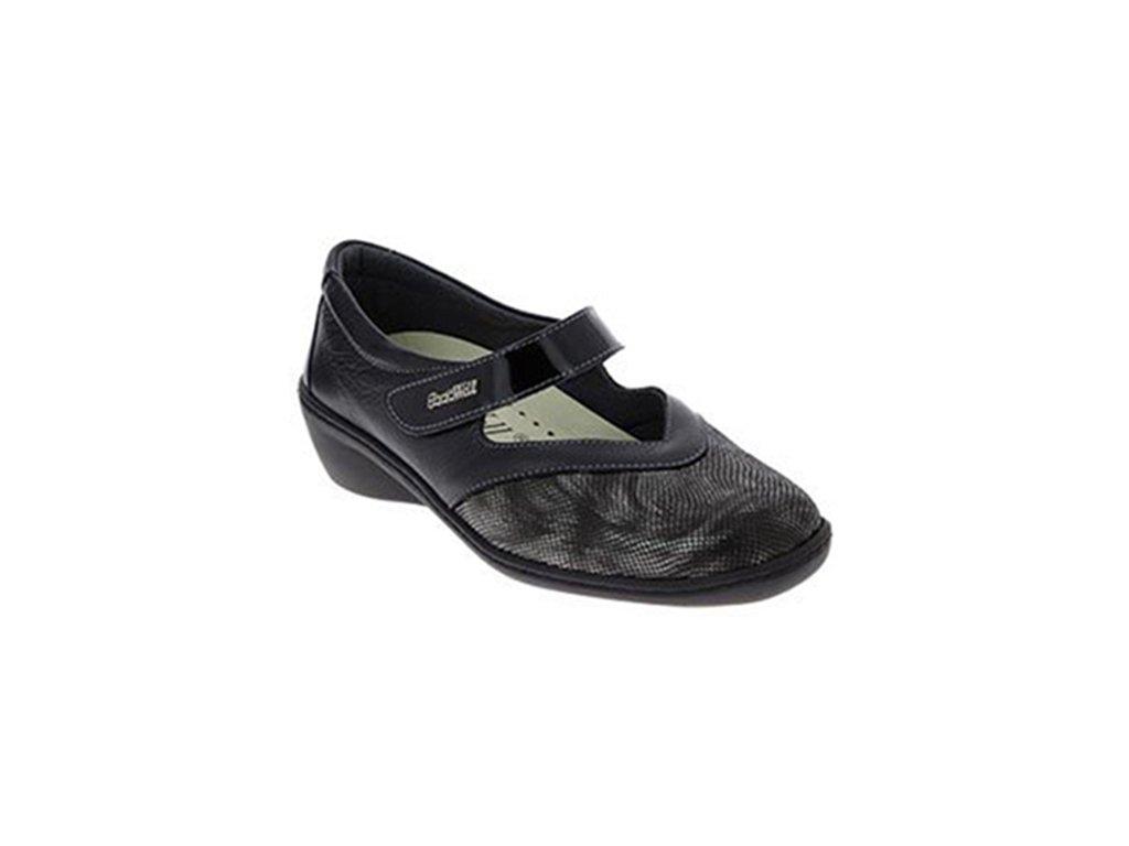 SOPHIE strečová dámská obuv pro halluxe a kladívkové prsty černá PodoWell