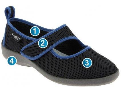 TARNOS modrá dámská obuv PodoWell