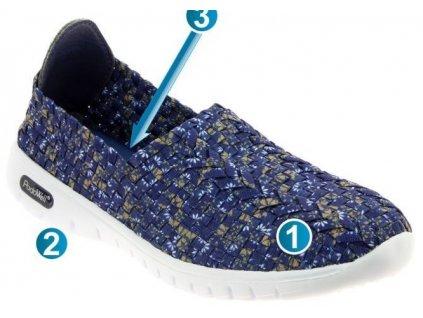 VEGAS sportovní obuv s paměťovou stélkou dámská modrá PodoWell