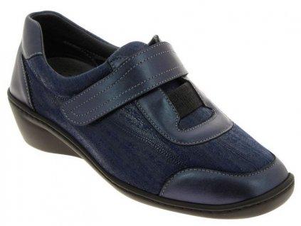 SIMONA zdravotní dámská polobotka pro širokou nohu a kladívkové prsty modrá PodoWell