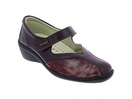STAR strečová dámská obuv pro halluxe a kladívkové prsty vínová PodoWell