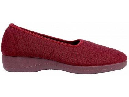 PISTACIO elastická obuv dámská bordová O6954-18 Nursing Care